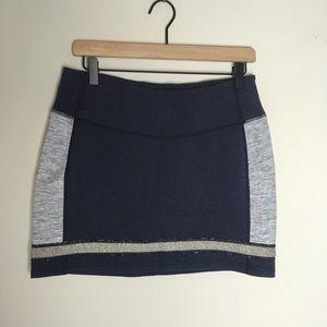 NWOT Lululemon Navy / Gray Refresh Skirt